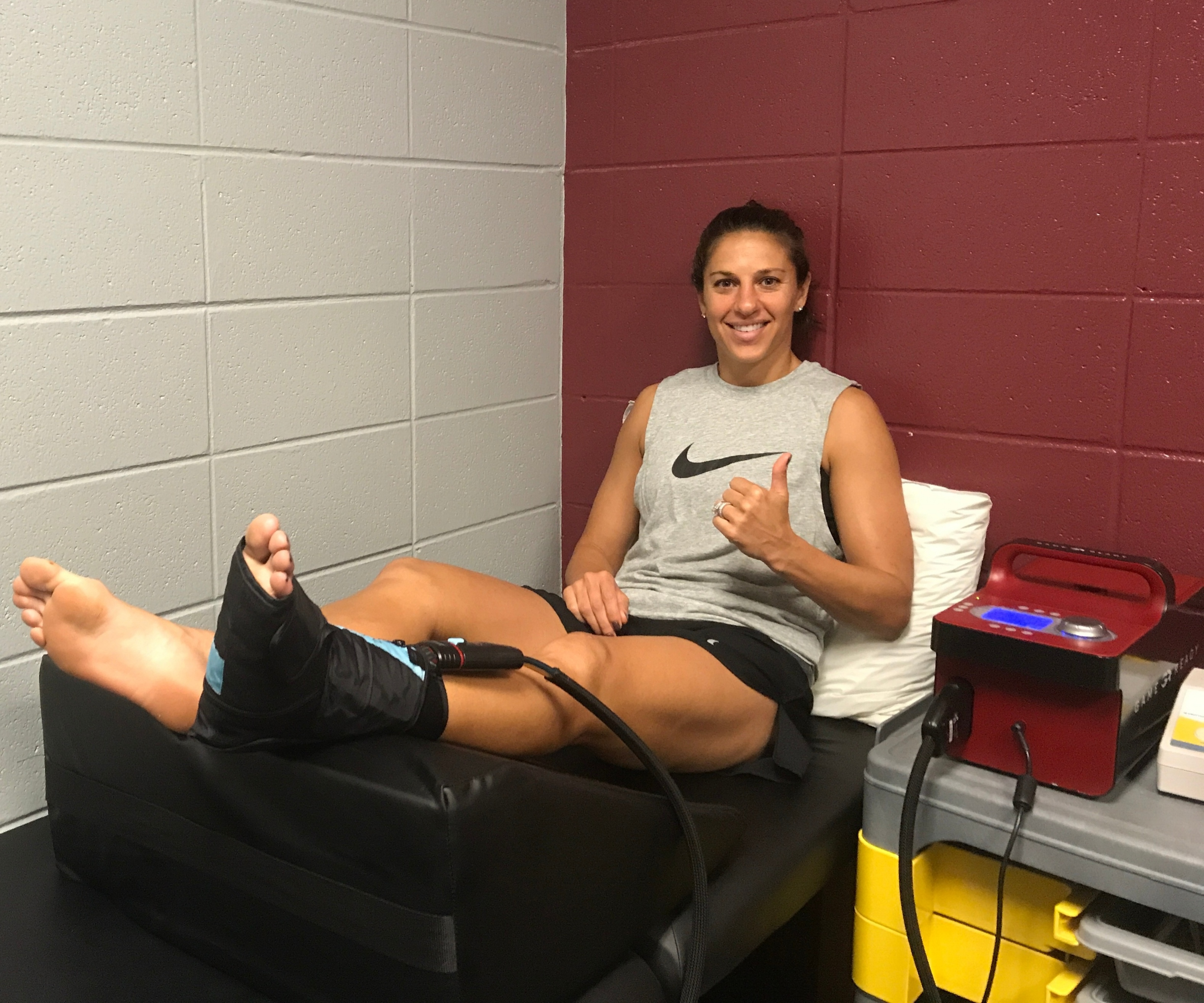 carli-lloyd-ankle-recovery-with-game-ready